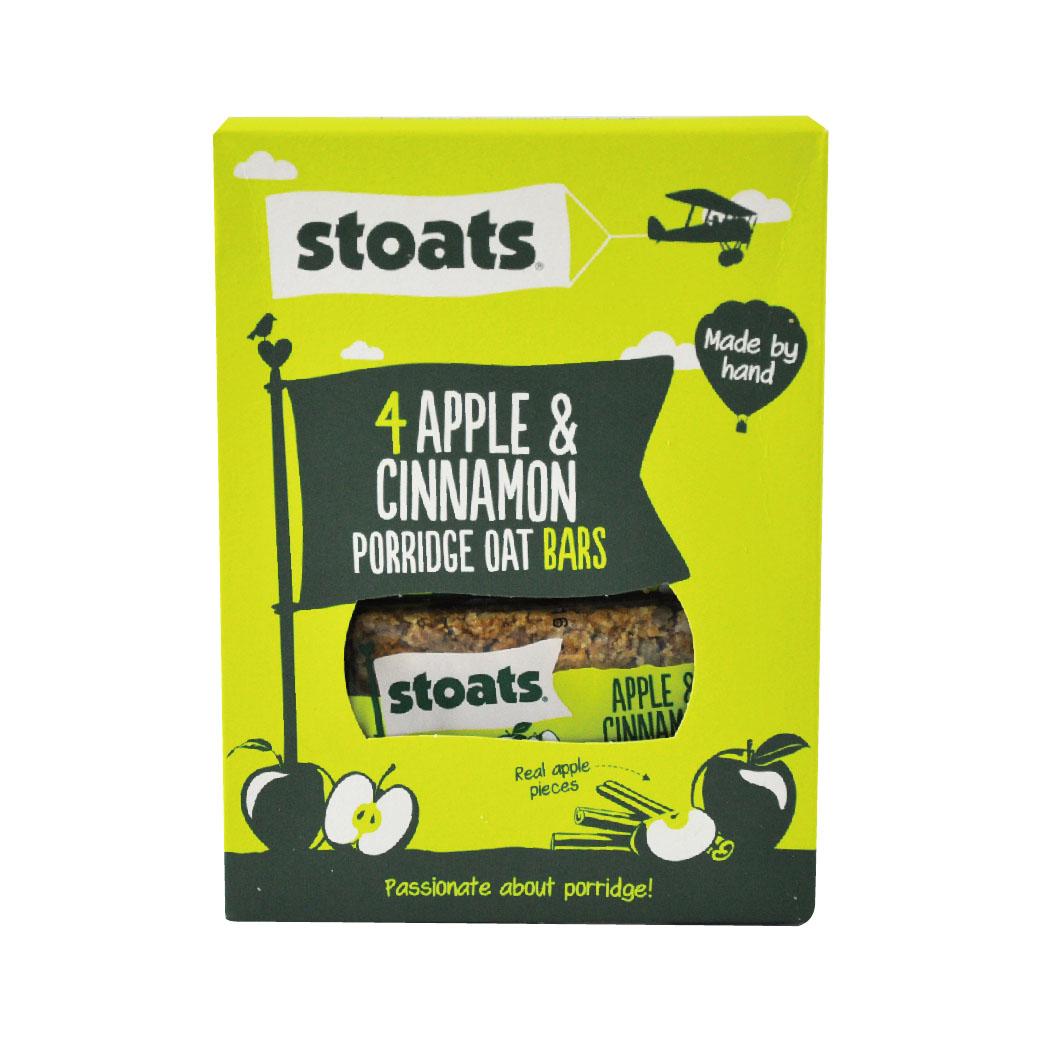[英國Stoats]蘋果肉桂燕麥棒 (4條/盒)(50g/條)(2017/04/03)