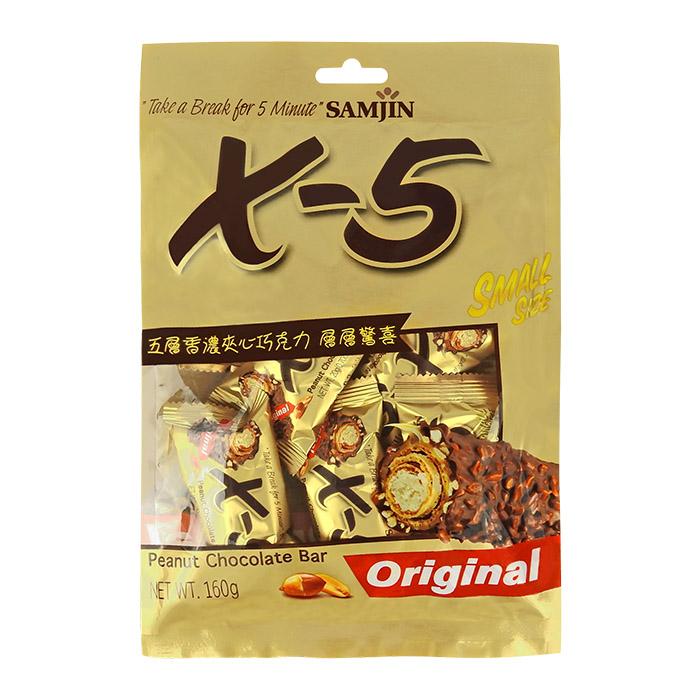 韓國 SAMJIN X-5 迷你花生巧克力捲心酥 20g╳8條/包【REJE828C】