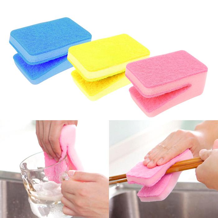 糖果色U型多功能廚具海綿/洗碗巾 乙入 隨機出貨不挑款/色【ROLI373C】