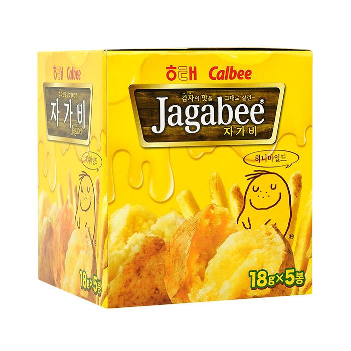 韓國 HAITAI JAGABEE 馬鈴薯條/薯條先生 18g╳5包/盒 進口/團購/零食/餅乾【REJE846C】