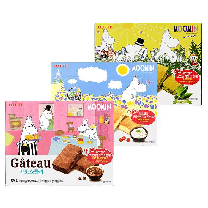 韓國 LOTTE 樂天 MOOMIN 嚕嚕米蛋糕 120g 進口/團購/零食/餅乾 【REJE842C】