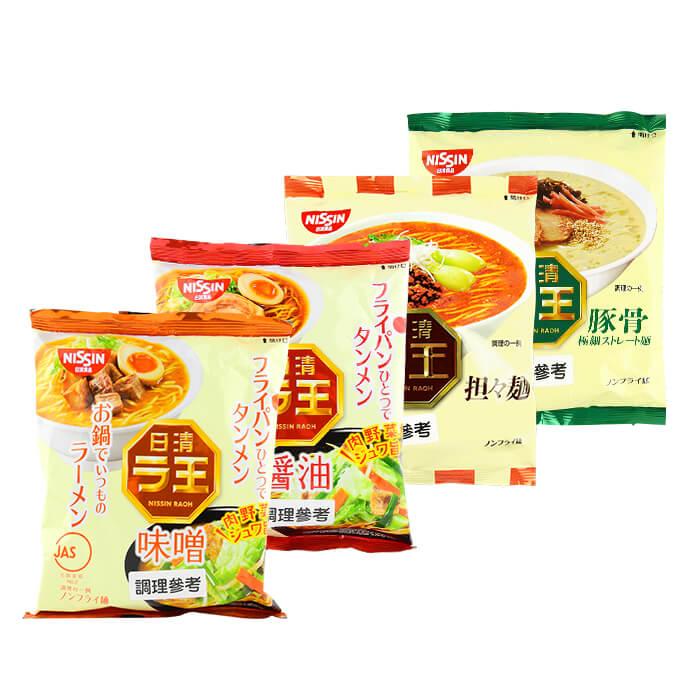日本 NISSIN 日清 拉王味噌/醬油/豚骨/擔擔拉麵 進口/團購/泡麵【REJE862C】