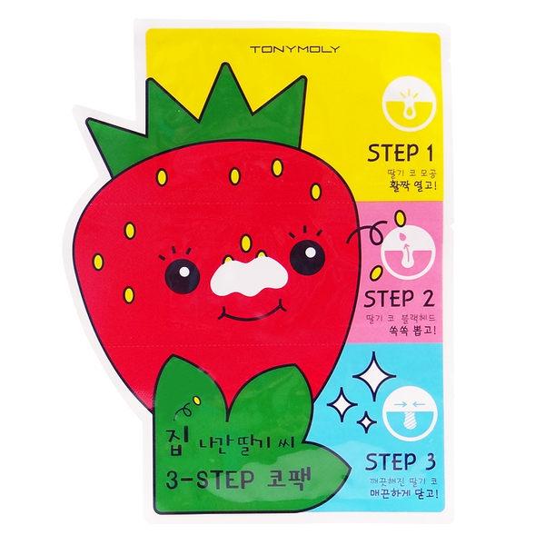 韓國 TONYMOLY 草莓鼻掰掰三步驟粉刺貼 6g【RKTM016C】