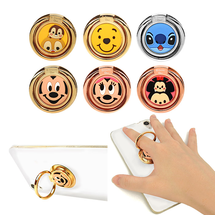 迪士尼圖案手機指環扣 乙入米奇/米妮/奇奇蒂蒂/維尼/史迪奇/多款可選【ROLI391C】