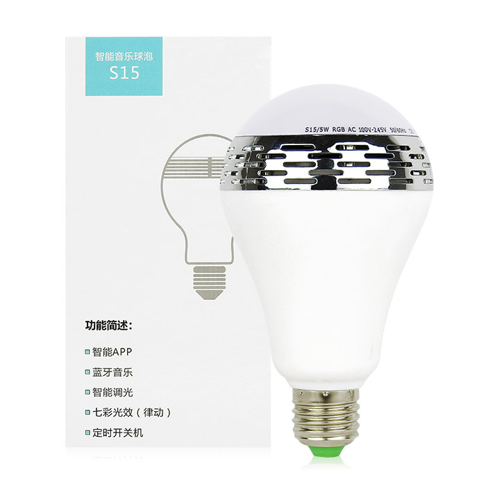 LED炫光音響燈泡 單入 手機APP遙控/音樂變色燈【ROLI402C】