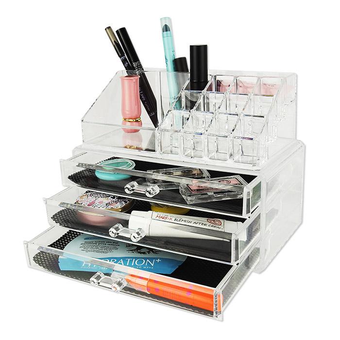 透明化妝品壓克力收納盒 乙入 多層抽屜收納【ROLI413C】