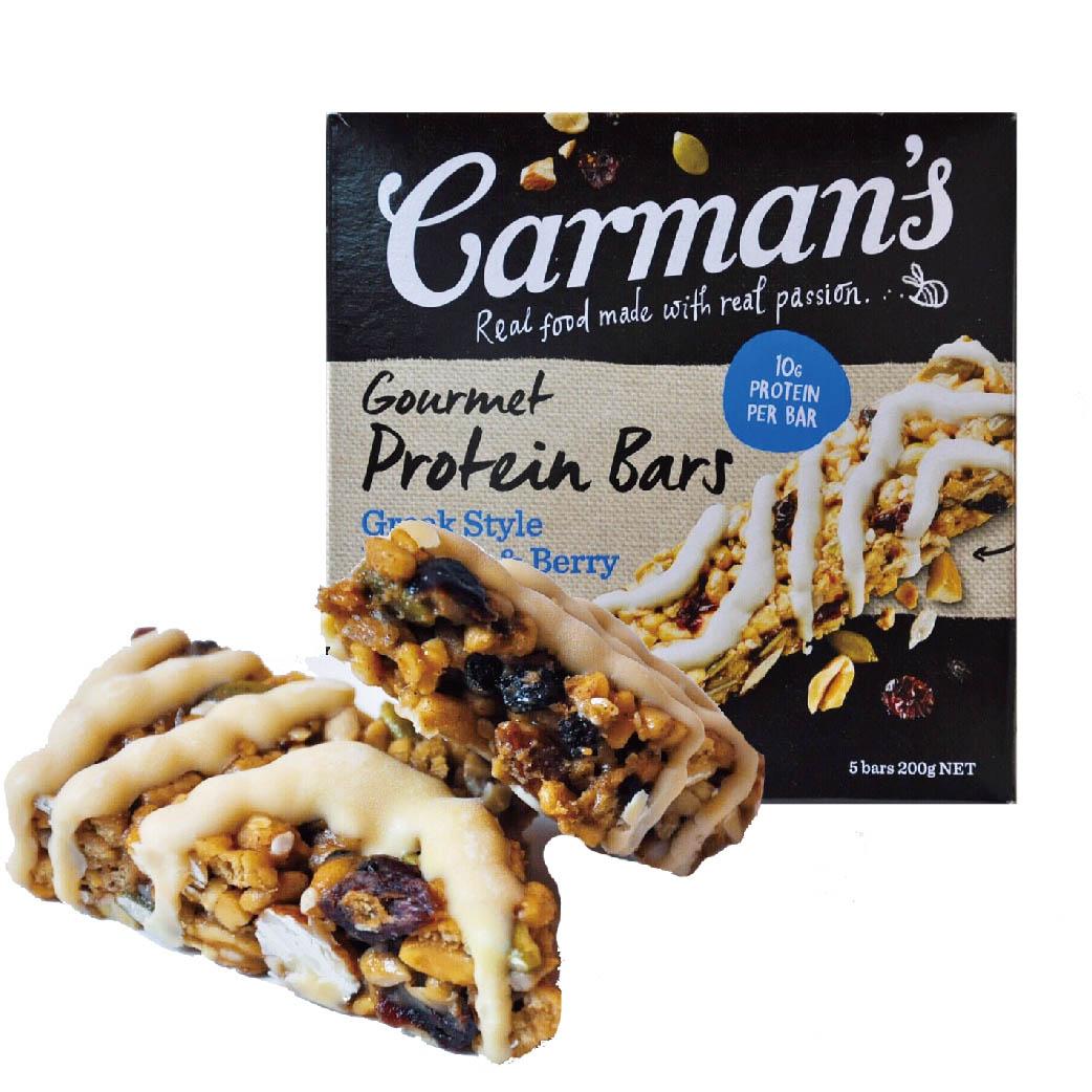 [澳洲 Carman's] 莓果希臘優格蛋白質棒(5條/盒)