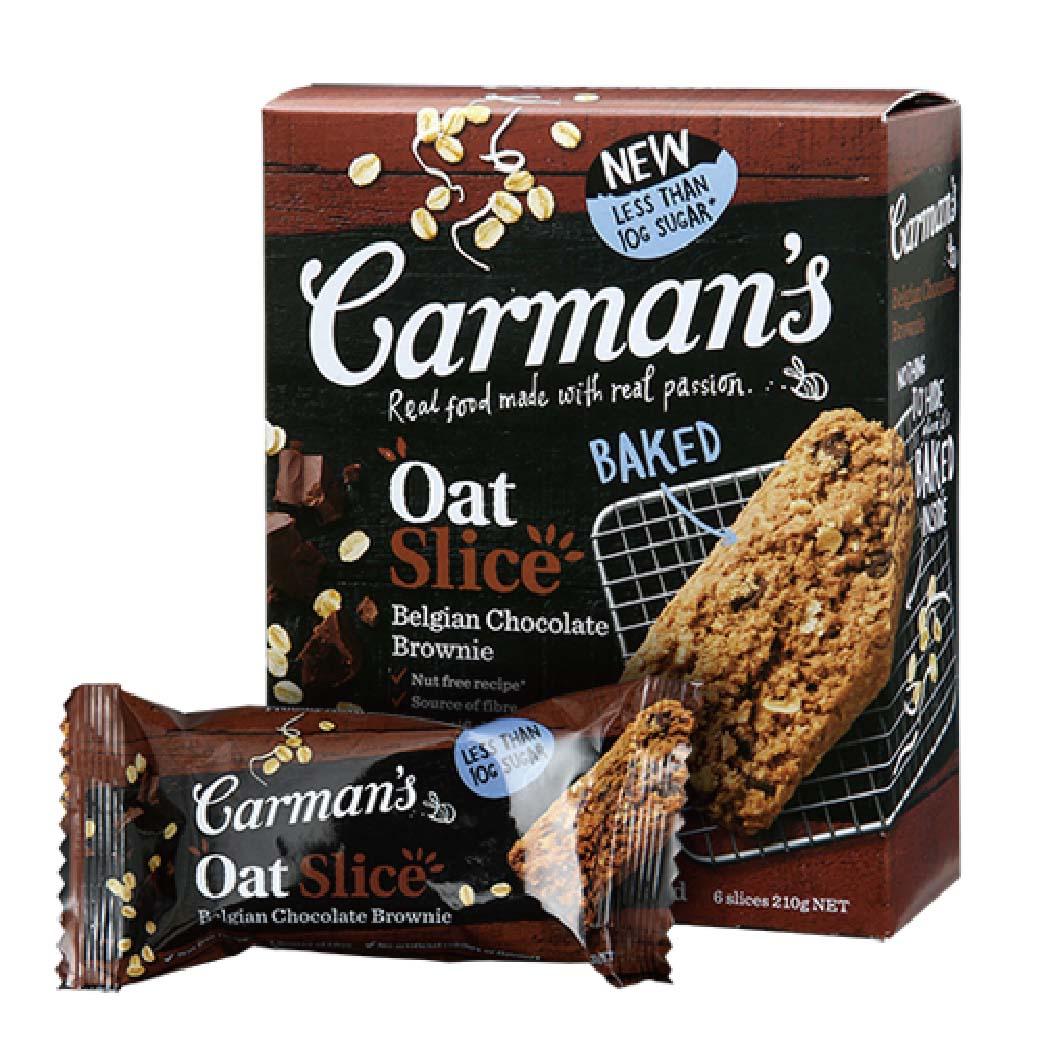 [澳洲Carman's]比利時巧克力燕麥小蛋糕(6條/盒)