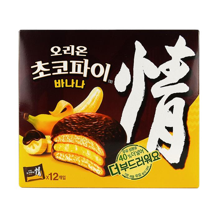 韓國 ORION 好麗友 情 香蕉巧克力派 444g/盒 團購/零食/餅乾【REJE925C】