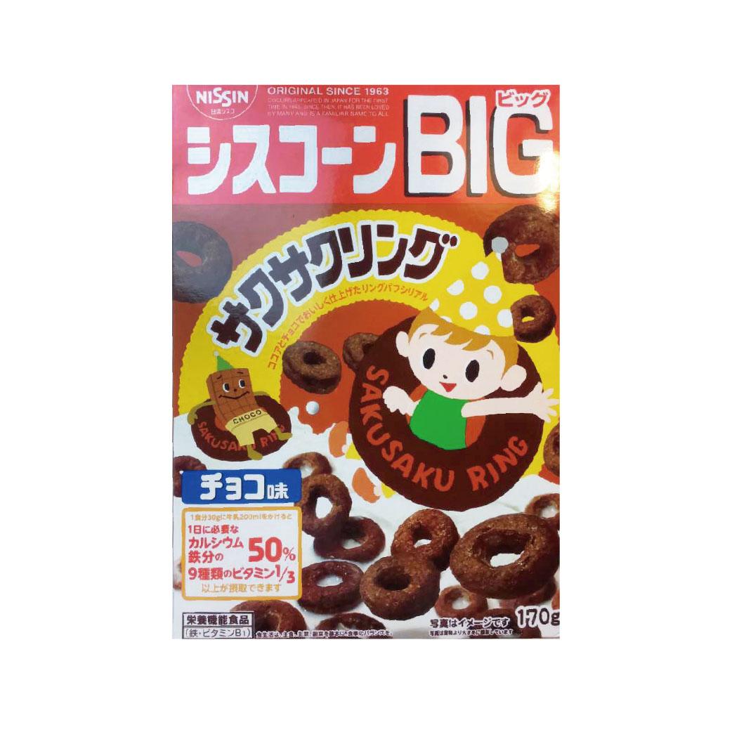 (售完)[日清 Nissin] BIG巧克力圈圈早餐餅 (170g/盒)