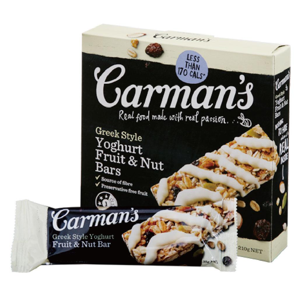 [澳洲 Carman's] ]希臘優格水果堅果燕麥棒 (6條/盒)