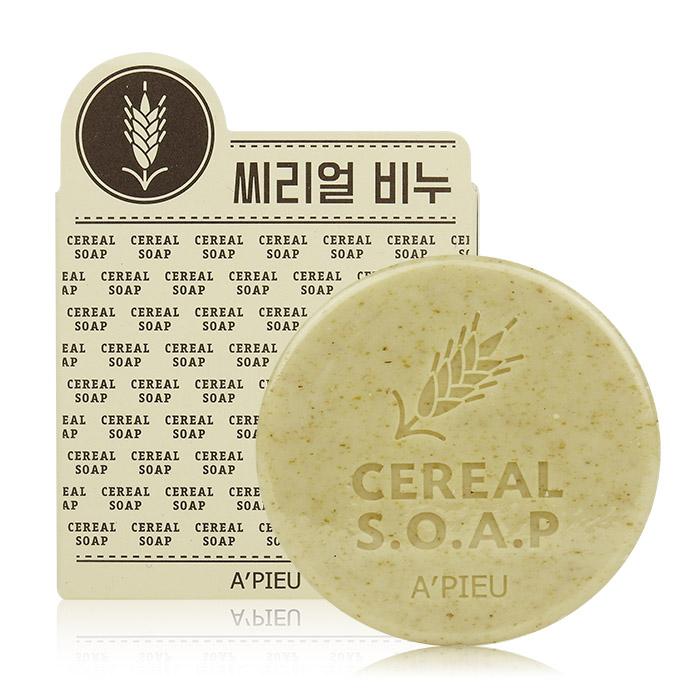 韓國 Apieu 燕麥穀物香皂 100g 身體用【RKAP129C】