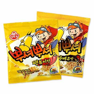 韓國 OTTOGI 不倒翁 乾脆麵 90g 炒年糕味/燒烤味/團購/零食/餅乾【REJE922C】