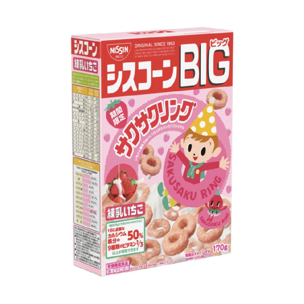 [日清 Nissin] 季節限定!草莓圈圈早餐餅 (200g/盒)