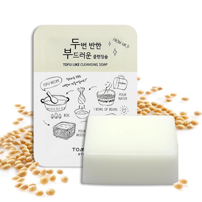 韓國 TOMARU 豆腐潔面皂 100g 周子瑜代言【ROKA105C】