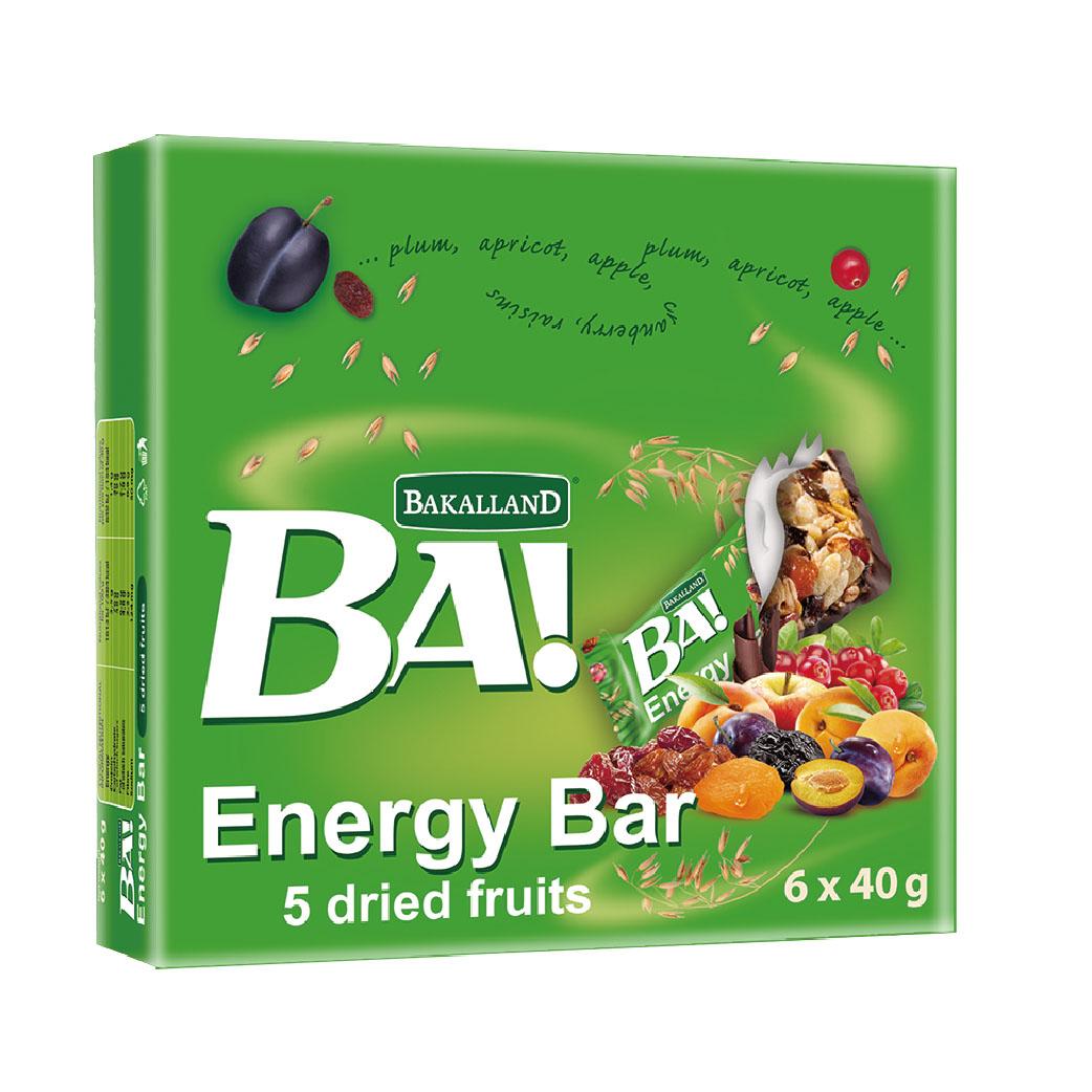 [波蘭BA!] 可可水果能量棒 (6條/盒)