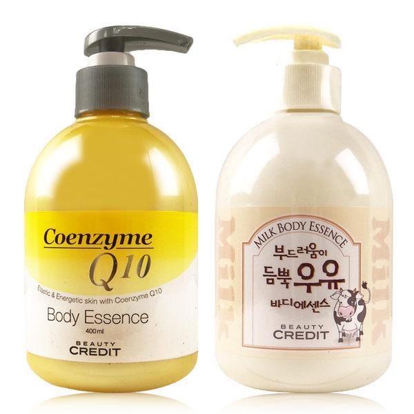 韓國Beauty Credit Q10身體保濕乳液 400ml 牛奶嫩白/Q10彈力【ROKE152C】