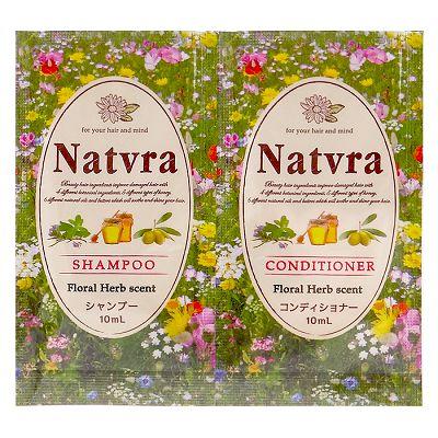 Natvra 植物精油修護洗潤體驗組 (洗髮精10mL+潤髮乳10mL)【RJJE625C】