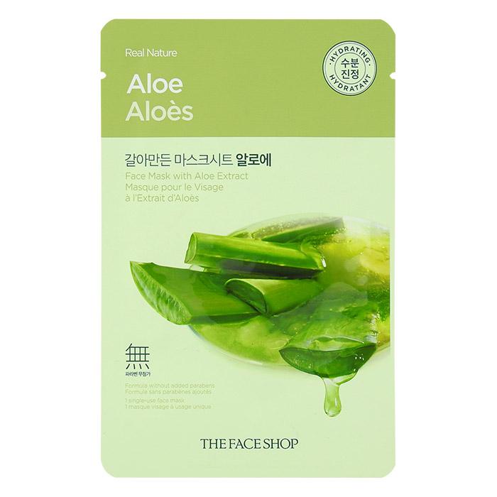 韓國 The Face Shop 蘆薈保濕面膜 單片【RKTF004C】