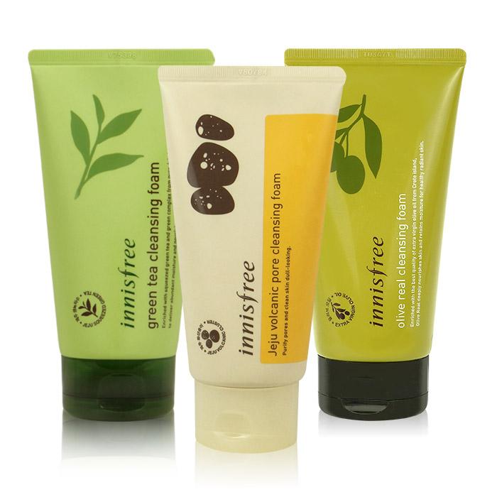 韓國 innisfree (綠茶清爽泡沫/火山灰毛孔清潔/橄欖保濕清潔)洗面乳 150mL【RKIN019C】