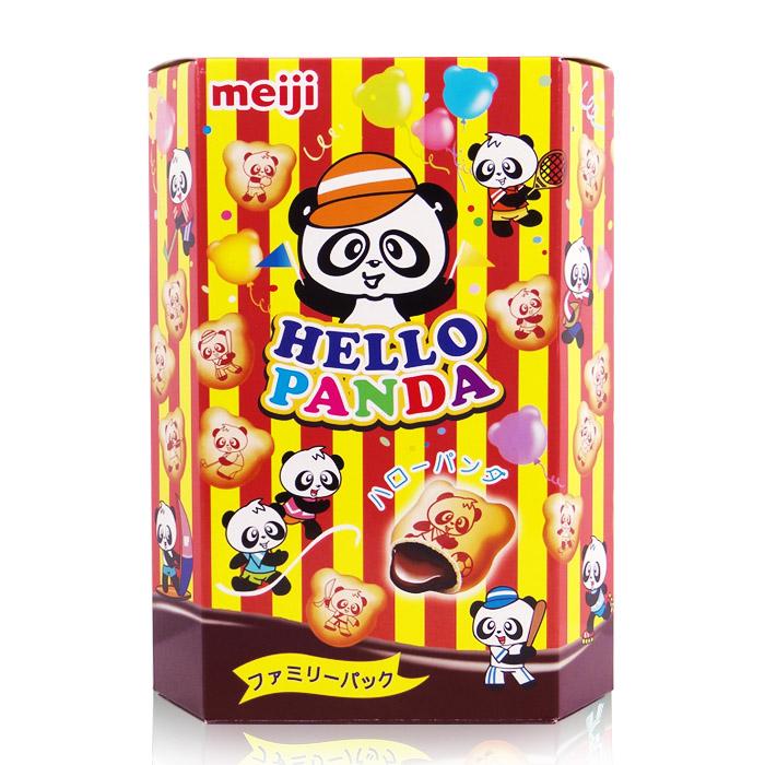 日本 Meiji 明治 HELLO PANDA 巧克力夾心餅乾 175g 進口/團購/零食/餅乾【REJE206C】