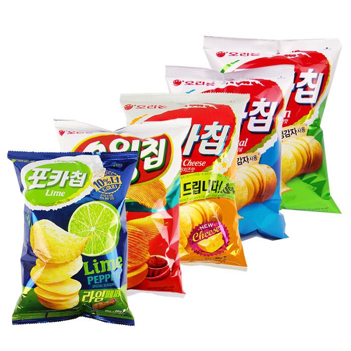 韓國 ORION 好麗友 生洋芋片 60g/包 原味/洋蔥/檸檬胡椒【REJE287C】