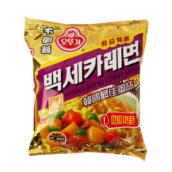 韓國 OTTOGI 不倒翁 咖哩拉麵 100g 乙包入 進口/團購/零食/餅乾【REJE296C】
