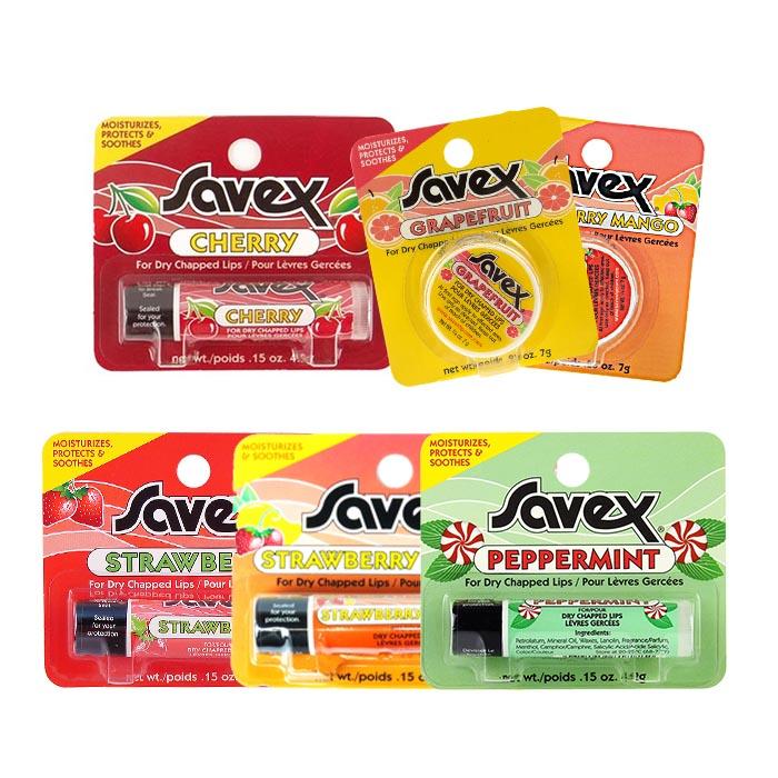 SAVEX 沙薇 護唇膏 硬管/圓罐 有背版 全系列【RASX005A】