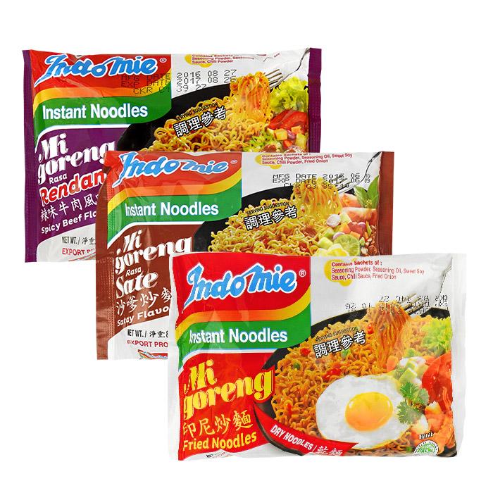 印尼 Indomie 營多撈麵/炒麵/乾麵 85g 原味/沙嗲/辣味牛肉【REJE409C】
