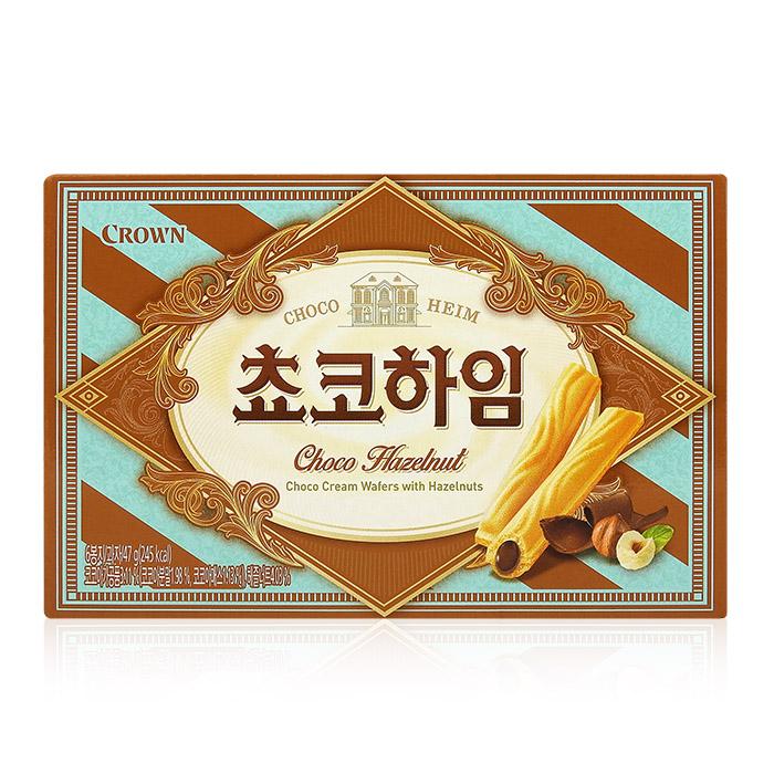 韓國 Crown 榛果巧克力威化酥 47g 進口/團購/零食/餅乾【REJE421C】