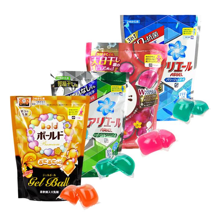日本 P&G  雙倍洗衣凝膠球 陽光馨香/森林芳香/BOLD花香/ARIEL淨白(補充包)【RJJE689C】