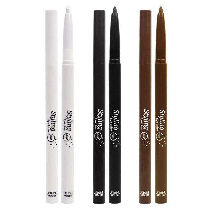 韓國 ETUDE HOUSE Styling 星光璀璨眼線筆 0.2g 黑/白/咖啡【ROET105C】