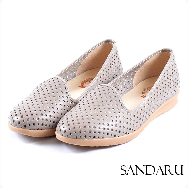 Sandaru Shoes~專櫃真皮.洞洞網狀娃娃鞋~8315380030~~灰色下單區