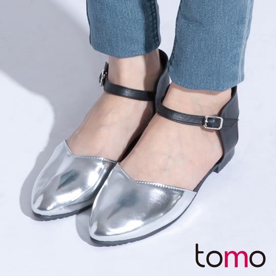 ~TW Shoes~街頭 金屬頭包踝平底鞋~K120B3615~