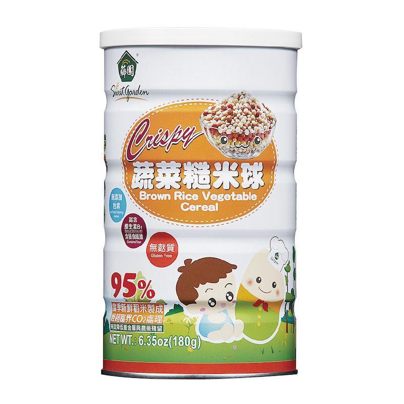 ^~薌園^~ 早餐麥片新選擇 天然100^%~蔬菜糙米球 ^(180g 罐^) ^~有效期