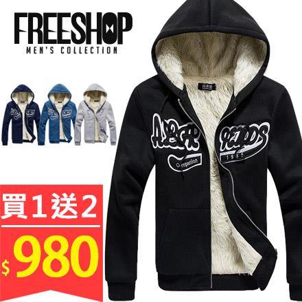 Free Shop~QTJF18~買一送二^(上衣 圍巾^) 美式休閒胸前立體文字貼布素色