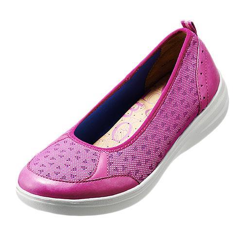 雙 簡約風休閒鞋^(活力桃紅K16SF071137^) 牛皮‧止滑‧輕質大底‧舒適‧休閒鞋