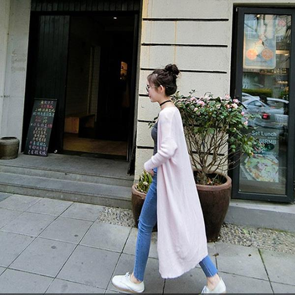 韓國長版防曬針織外套  衣櫃控~WardrobE  DM~U51
