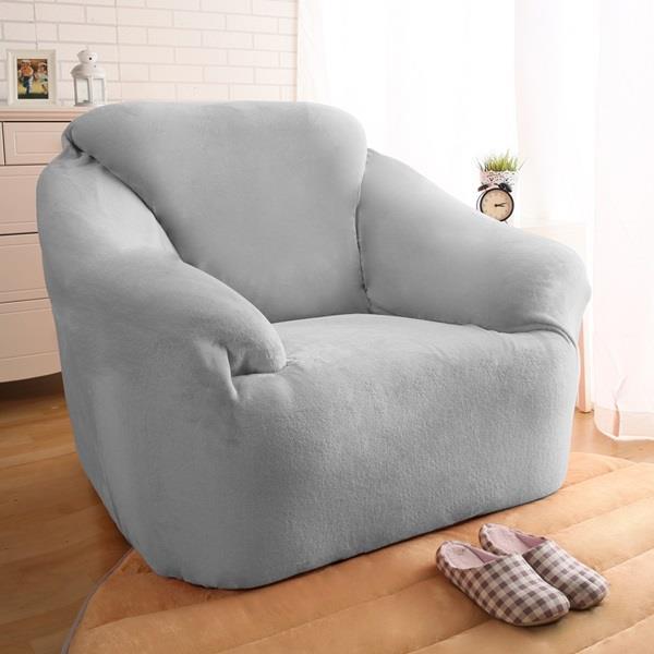 柔暖素色法蘭絨沙發罩~1人座~八色