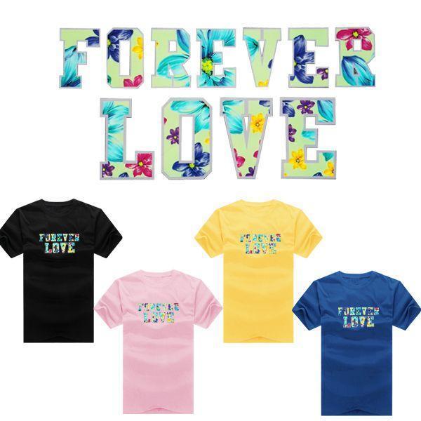 ◆ 出貨◆花色FOREVER LOVE‧夏日潮款‧ 配對情侶裝.客製化.T恤. 情侶裝.