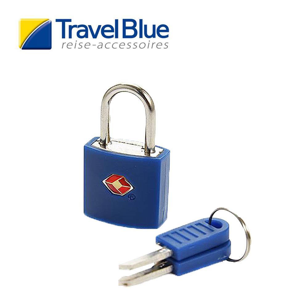 英國Travel Blue藍旅TSA彩色掛鎖 藍色 露營│登山│戶外│旅遊│出國│海關鎖T