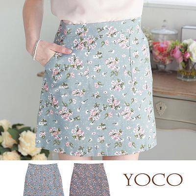 拼接口袋印花窄裙 6010256