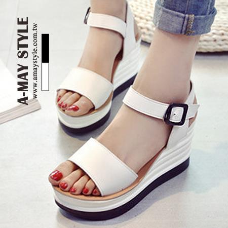 艾美 ~ ~涼鞋~都會 純色楔型涼鞋~XSU9103~ SU10~2