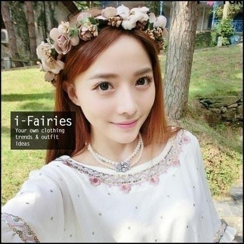 花環頭飾髮飾花圈頭花 海邊度假花朵伴娘裝飾~SL29539~