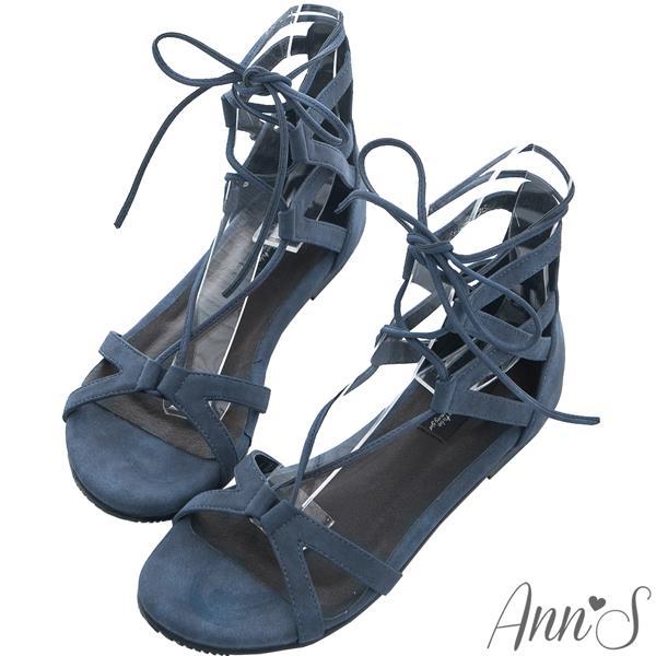 ~有緣5折➘ 1280~Ann'S ~羅馬交叉綁帶平底涼鞋~藍