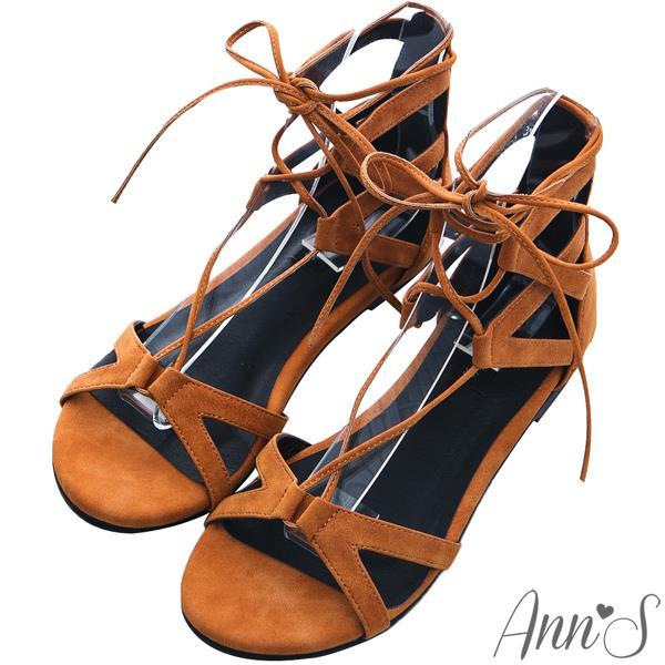~有緣5折➘ 1280~Ann'S ~羅馬交叉綁帶平底涼鞋~棕