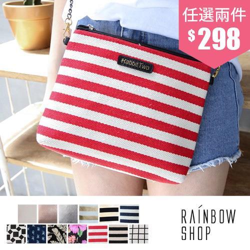 多圖樣斜背鍊條包~OO~Rainbow Shop~A17171447~