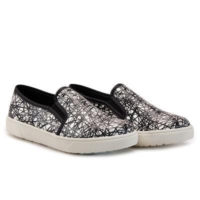 懶人鞋 線條 便鞋 N58 白
