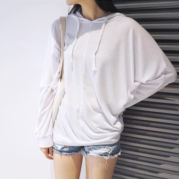 寬鬆超柔軟防曬薄款連帽T~Shirt  衣櫃控~WardrobE  EV8272