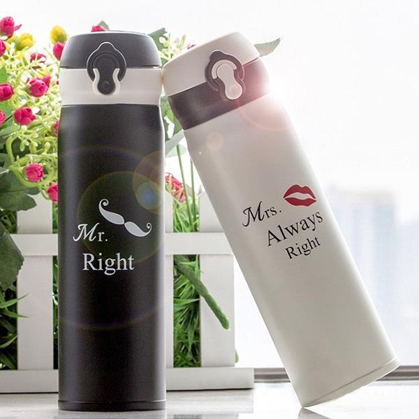 Mr.Right系列情侶不鏽鋼保溫對杯  衣櫃控~WardrobE  LE8560